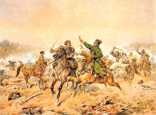 Ян Кризостом Пасек во время сражения под Полонкой, 1660 год