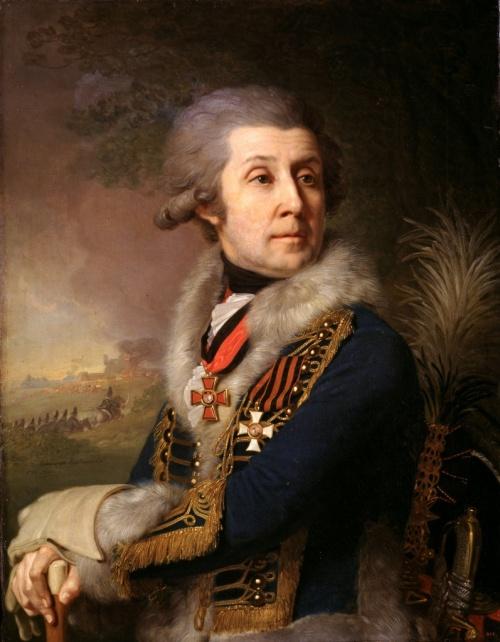 Портрет генерала Ф. А. Боровского - одного из первых кавалеров ордена Св. Георгия. Худ. В. Л. Боровиковский, 1799