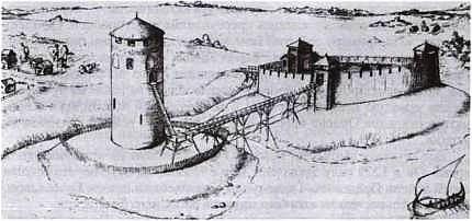 Каменецкий замок. Реконструкция О. Иова и А. Башкова. 2008 г.