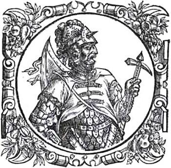 Витень. Гравюра из книги А. Гвагниньи «Хроника Европейской Сарматии». 1578 г.
