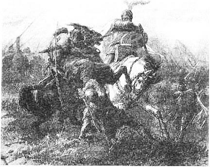 М. Э. Андриолли. Бой литвинов с крестоносцами. 1883 г.
