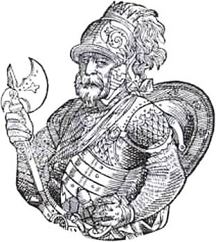 Скиргайло. Гравюра из книги А. Гвагниньи «Хроника Европейской Сарматии». 1578 г.