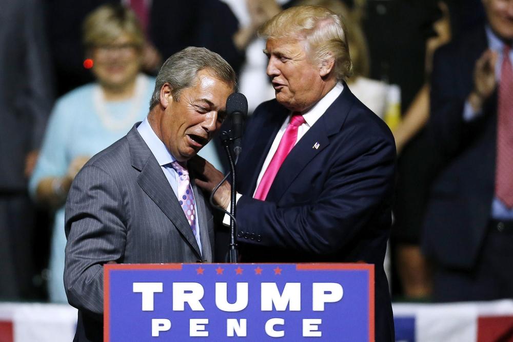 Слезы счастья. Трамп растрогал и обнадежил Фараджа