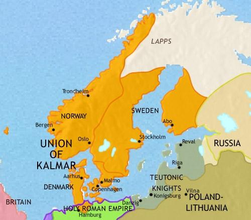Кальмарская уния, 1453. (Источник: www.timemaps.com)