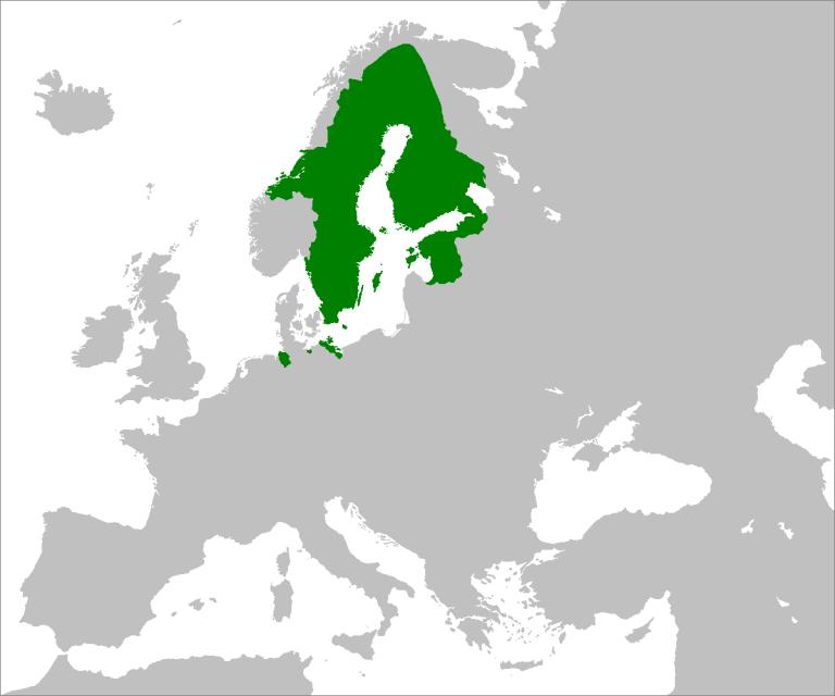 Шведская империя, 1658 г. (Источник: Wikipedia