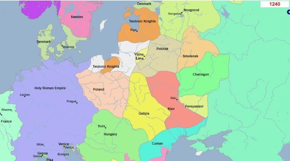 Карта Вялікага Княства Літоўскага 1240, Попыт на Беларушчыну