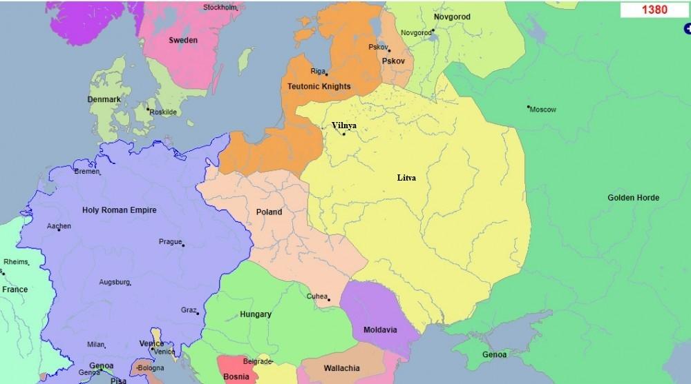 Карта Вялікага Княства Літоўскага 1380, Попыт на Беларушчыну