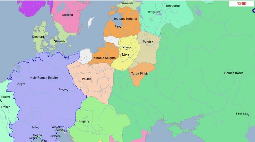 Карта Вялікага Княства Літоўскага 1260, Попыт на Беларушчыну