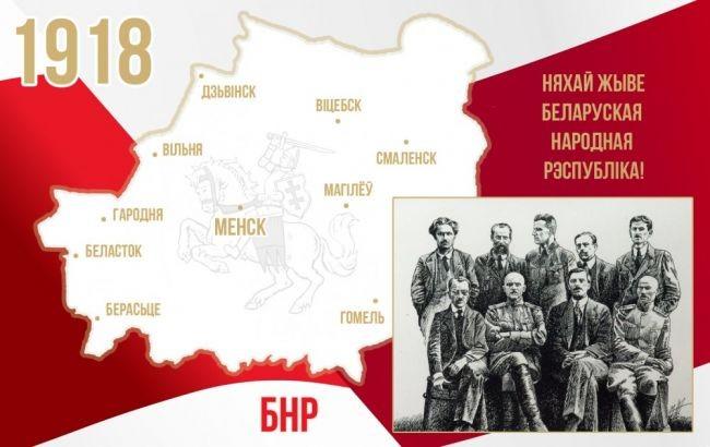 Абвешчаныя межы Беларускай Народнай Рэспублікі (БНР) 1918-1919