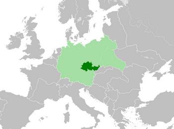 Протекторат Богемии и Моравии в 1942 г.